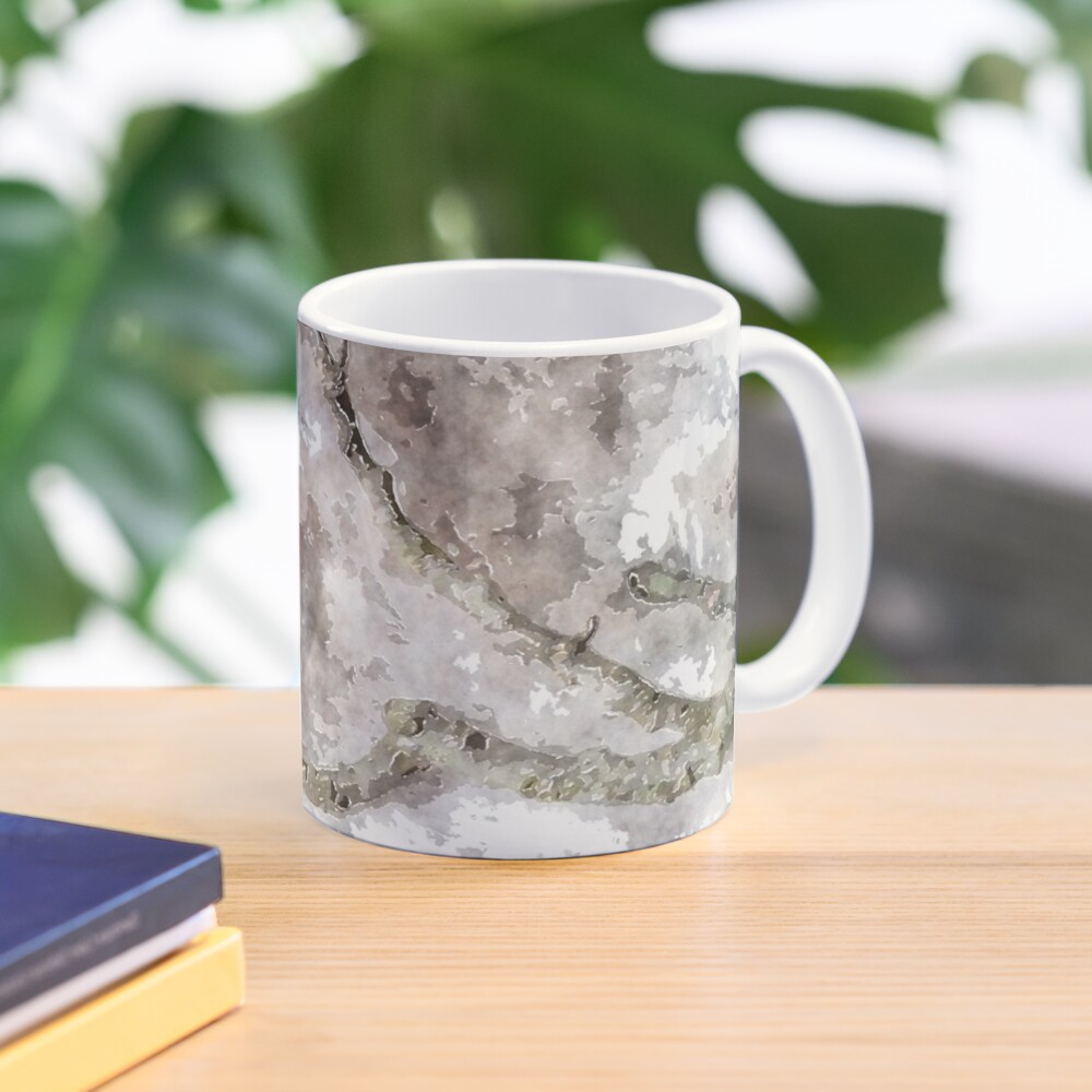 watercolor style Oak twig and acorn cap Mug