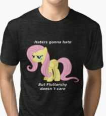 Fluttershy Haters gonna Hate Tri-blend T-Shirt
