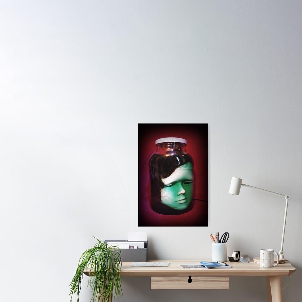 Head In A Jar ~ Lady Scream Poster