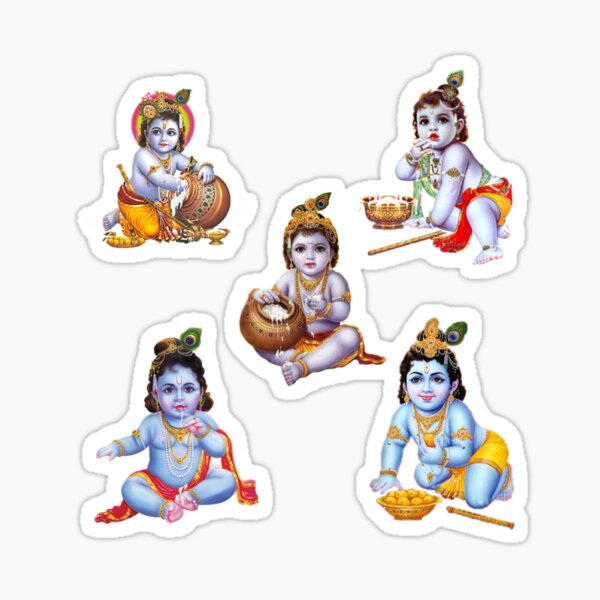 Baby Krishna Stickers Redbubble
