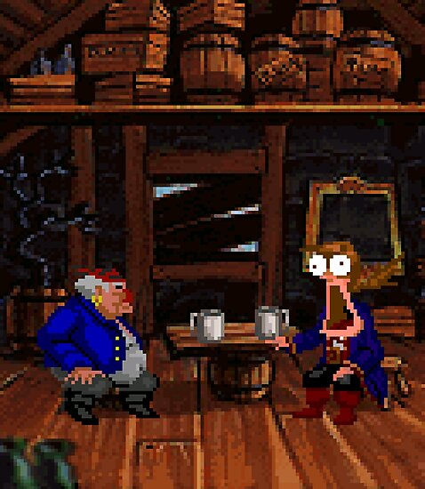 Drinking contest with Rum Rogers Jr (Monkey Island 2) by themasrix