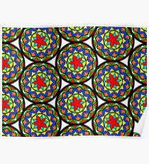 Flower Mandala Pattern Poster