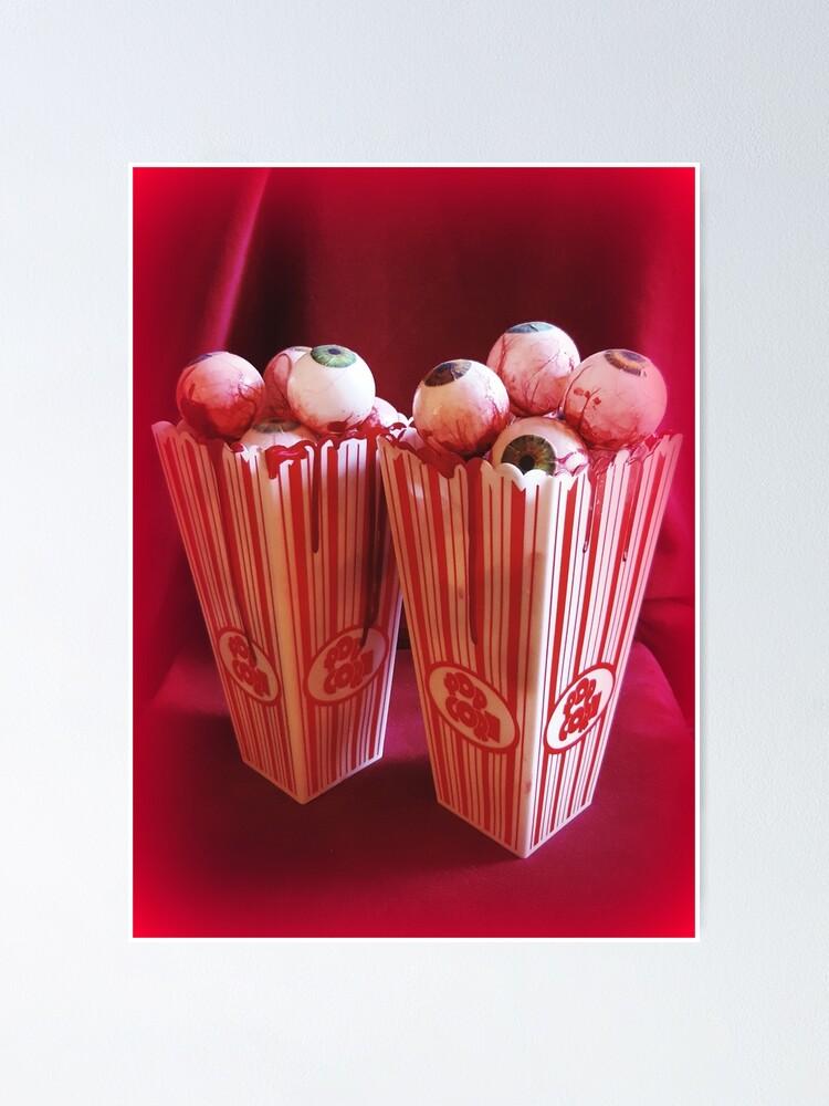 Alternate view of Popcorn Eyeballs ~ Lady Scream  Poster