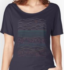 Lineare Landschaft Loose Fit T-Shirt
