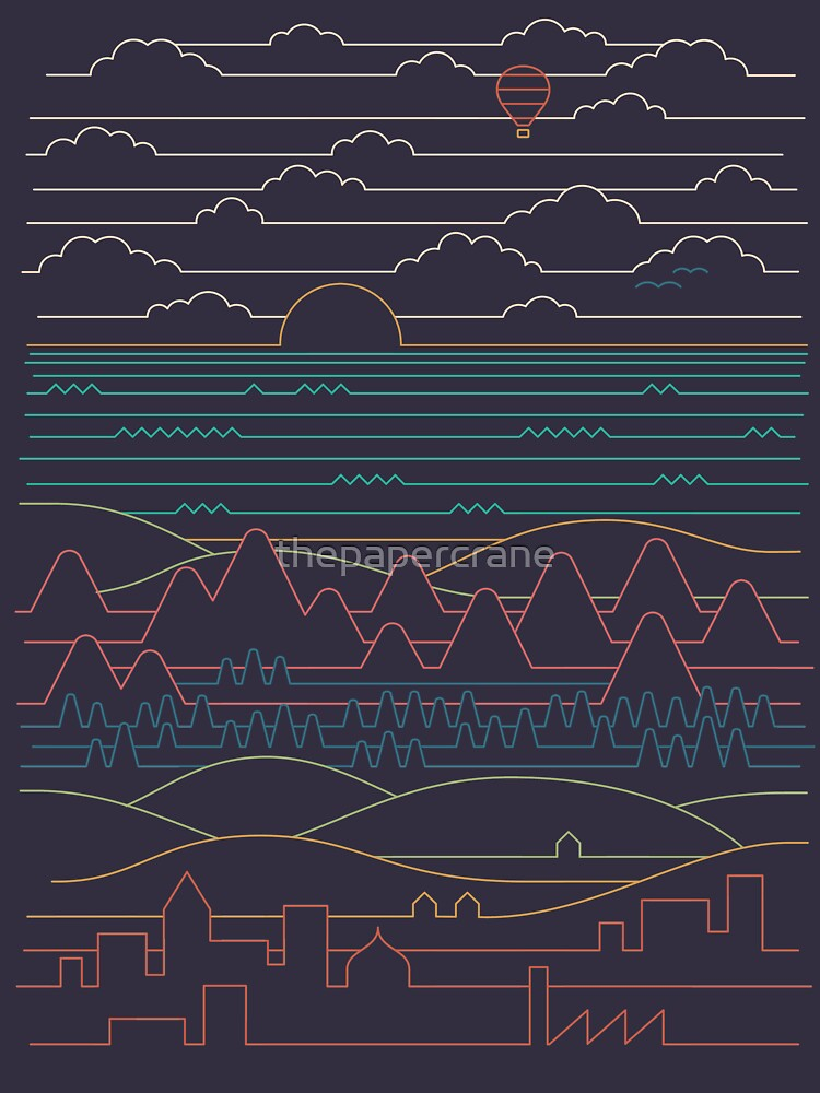 Linear Landscape by thepapercrane