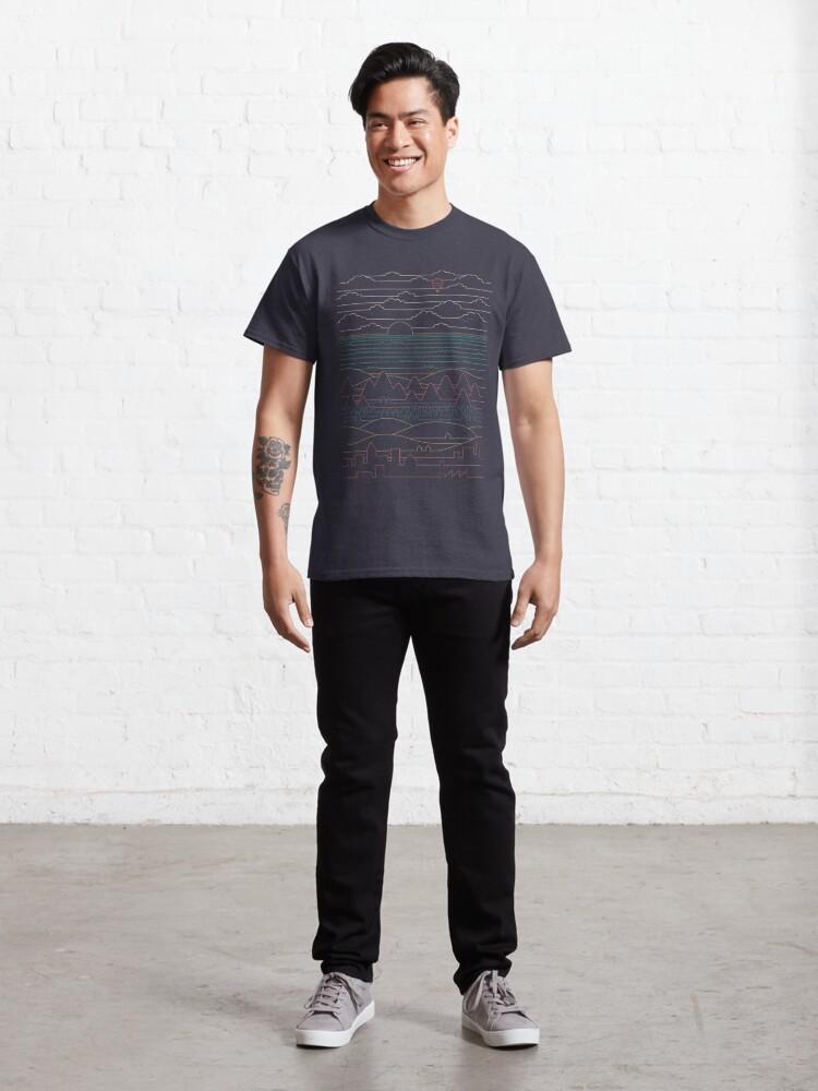 Alternate view of Linear Landscape Classic T-Shirt