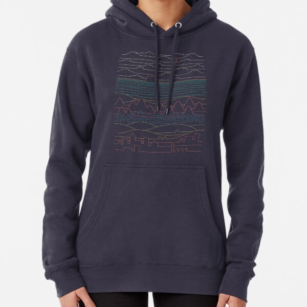 Linear Landscape Pullover Hoodie