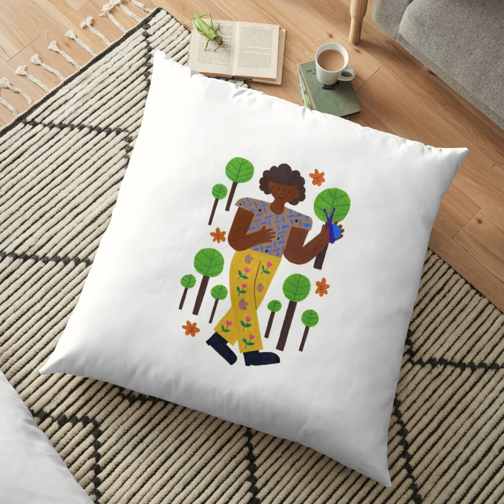 Strollin' Through The Trees Floor Pillow