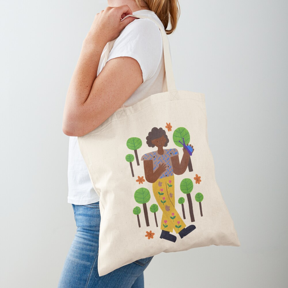 Strollin' Through The Trees Tote Bag