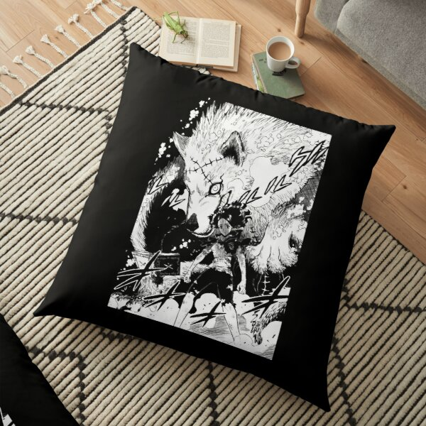 Charmy and the Wolf - Black Clover Floor Pillow