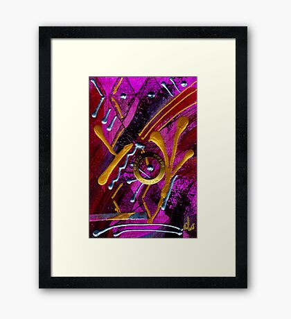 Magenta Joy Dreams Framed Print