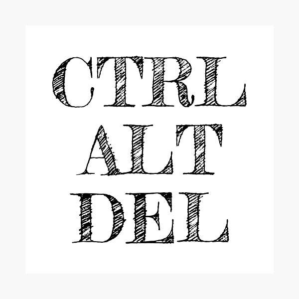 CTRL ALT DEL Photographic Print