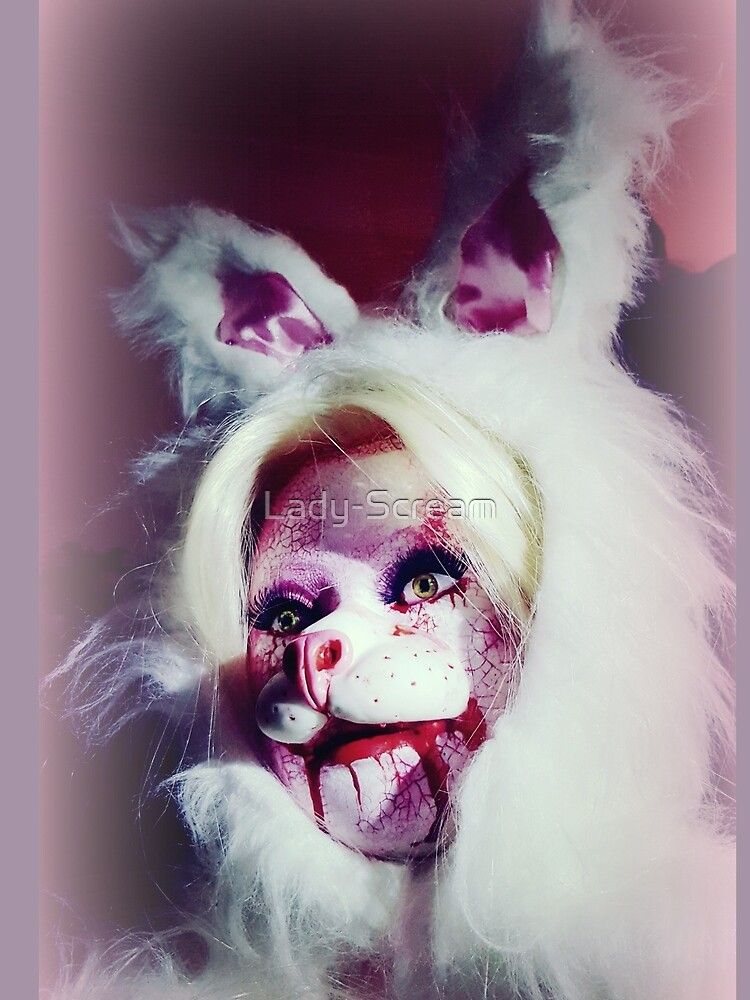 Hell Bunny Doll Head by Lady-Scream