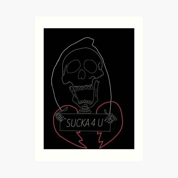 SUCKA Skull Design Art Print