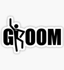 Groom (Black Print) Sticker