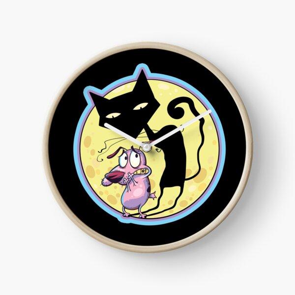 Courage L'ombre Katz du chien lâche Horloge