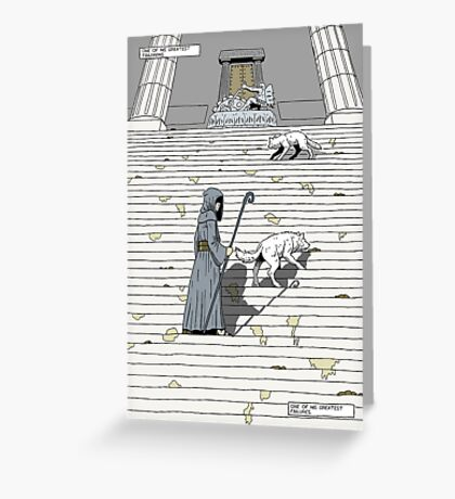 Prelude to battle - the White Queen-Bishop's Tale... Greeting Card