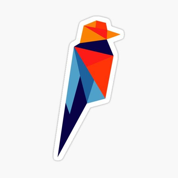 Ravencoin Low Poly Color Sticker
