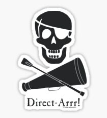 Direct-Arrr! Black Design Sticker