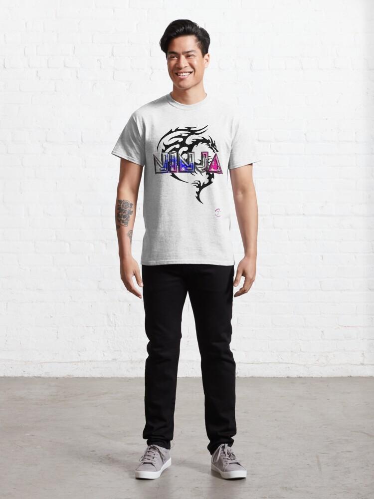 Alternate view of Retro Ninja 3 Classic T-Shirt