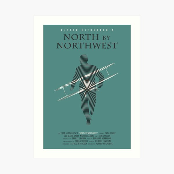 Alfred Hitchcock North by Northwest Art Print