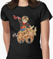 Man Astride Bull T-Shirt