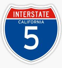 Interstate Sign 5, California Sticker