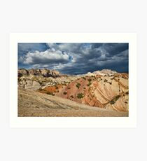 Split Mountain from Sound of Silence Trail Art Print