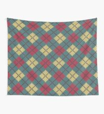 Retro Knit Argyle Wall Tapestry