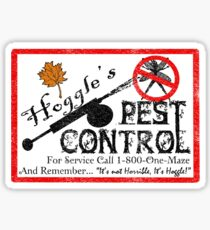 Hoggles Pest Control Sticker