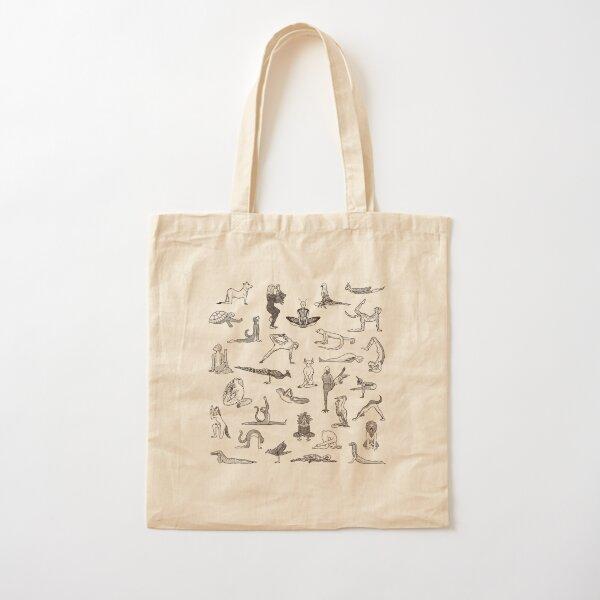 31 Yoga Animals - by Shamanthi Cotton Tote Bag