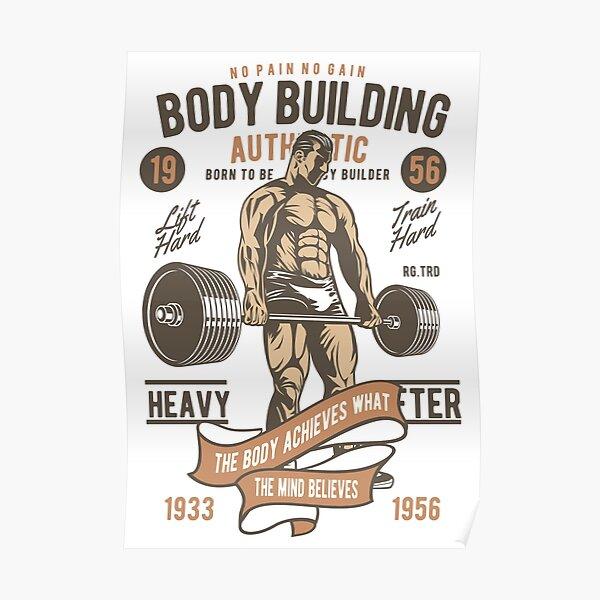 Authentic Bodybuilding  Poster