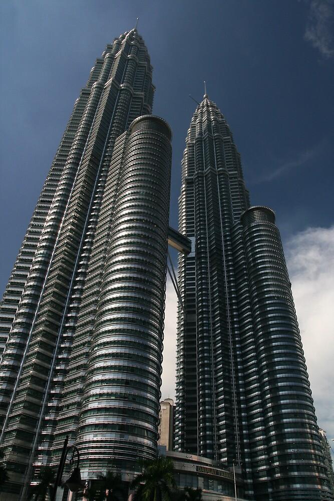 Blue Sky, Petronas Towers by Jane McDougall