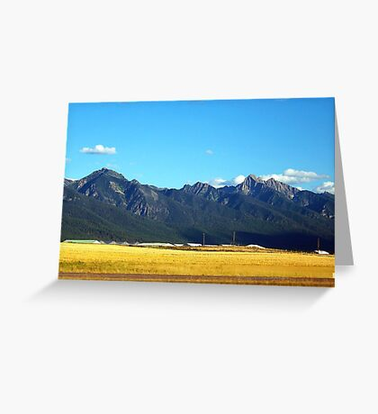 Mission Mountains 3 Greeting Card