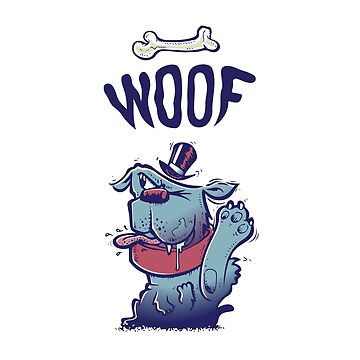 Woof Top Hat Dog by ABANArt