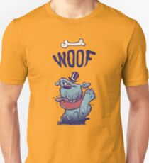 Woof Top Hat Dog Unisex T-Shirt