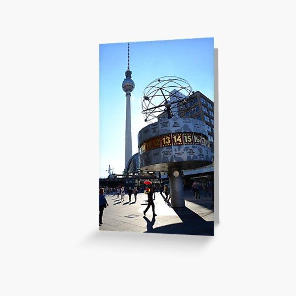 World Clock Berlin Greeting Card