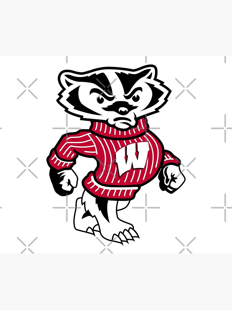 University of Wisconsin Badgers Bucky Badger by SportsT-Shirts