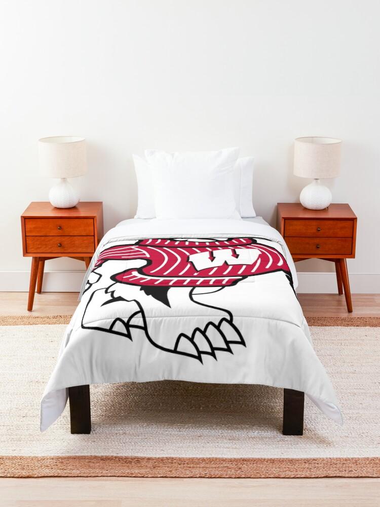 Alternate view of University of Wisconsin Badgers Bucky Badger Comforter