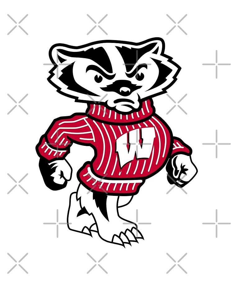 "University of Wisconsin Badgers Bucky Badger"" iPad Case & Skin by  SportsT-Shirts 