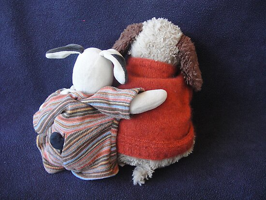 Boris & Errol Cuddles by Wendy Dyer