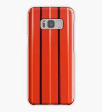Red metal corrugated sheet metal Samsung Galaxy Case/Skin