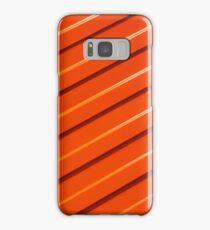 Orange metal corrugated sheet metal Samsung Galaxy Case/Skin