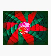 hot, greeny red Photographic Print
