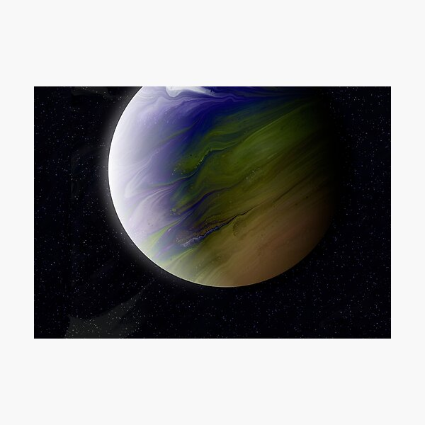 Planet Zeta: Outer Space Art Photographic Print