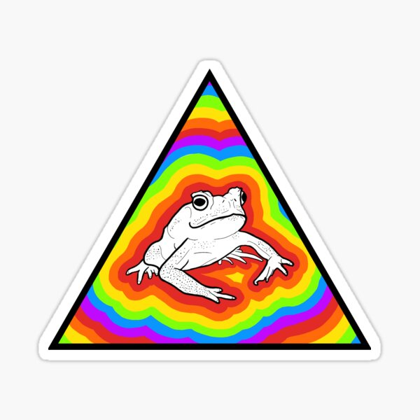 Rainbow Frog 2 Sticker