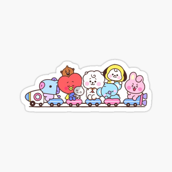 Baby BT21 Train Sticker