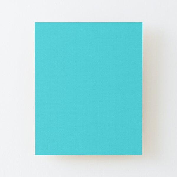 Diamante azul aguamarina sólido Color sólido simple en todo color Lámina montada de madera