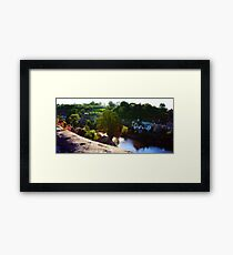 Tilt-shift panorama of Fresnay-sur-Sarthe Framed Print