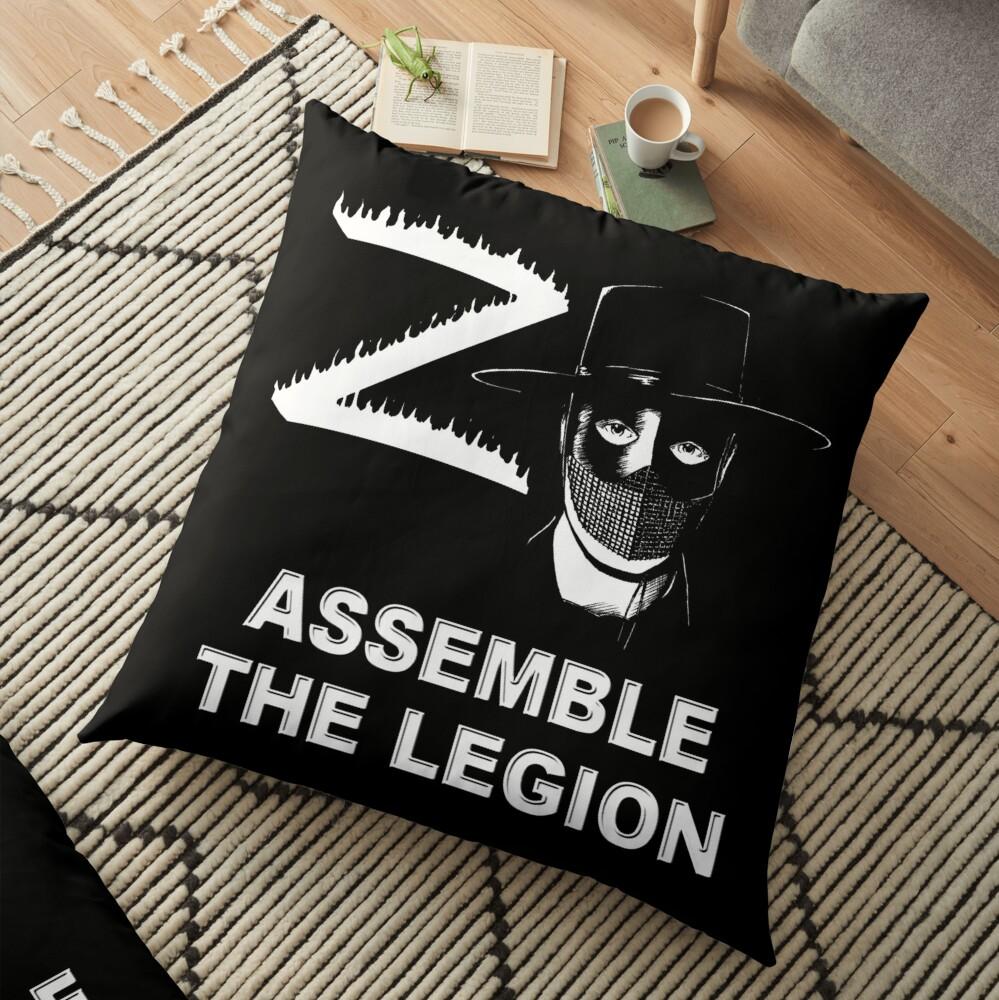 Zorro - Assemble the Legion Floor Pillow